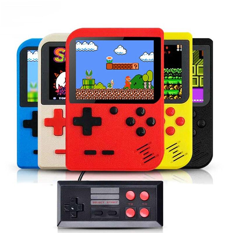 Neue Eingebaute 400 Spiele 1000mAh Batterie Retro Video Handheld Spielkonsole + Gamepad 2 Spieler Verdoppelt 3,0 Zoll LCD spiel-Player