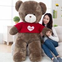 Grande rodada olhos vermelhos amor camisola ursinho de brinquedo de pelúcia grande urso boneca de presente cerca de 160 cm