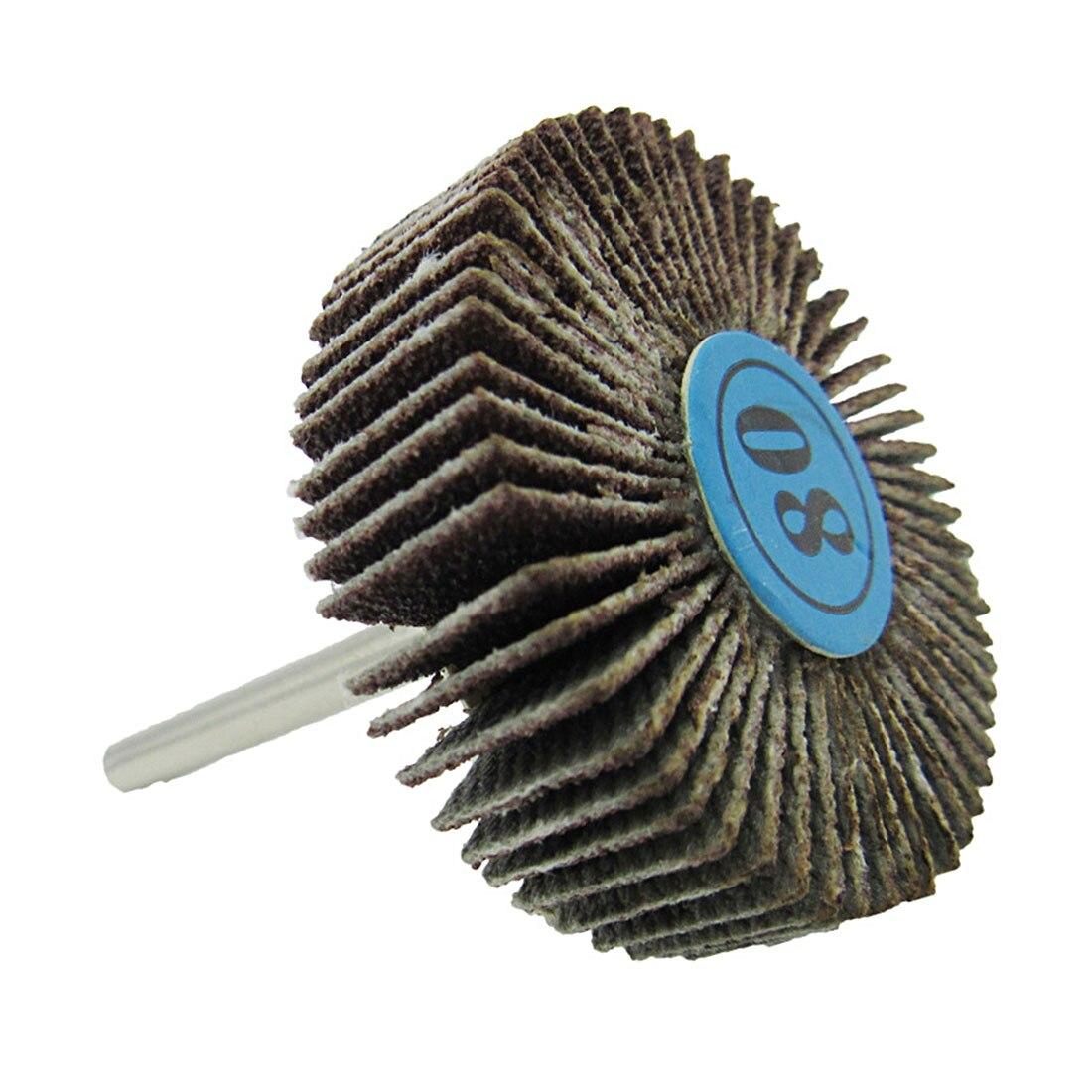 5Pcs Dremel Accessories Sandpaper Sanding Flap Polishing Wheels Sanding Disc Set Shutter Polishing Wheel For Rotary Tools