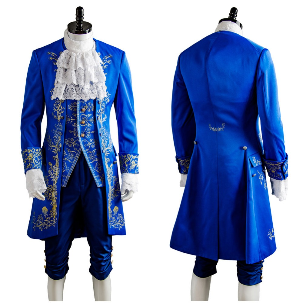 2017 Movie Beauty and the Beast Costume Prince Adam Men Anime Party Halloween Carnival Dan Stevens Cosplay Costumes