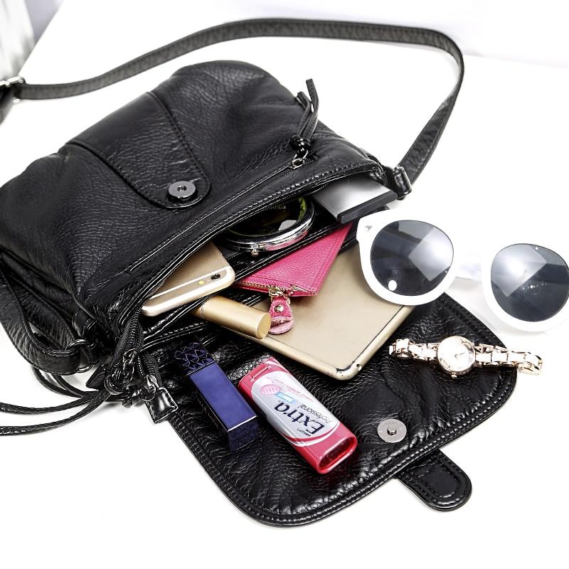 mulheres de couro macio bolsa Estilo 3 : Women Messenger Bags