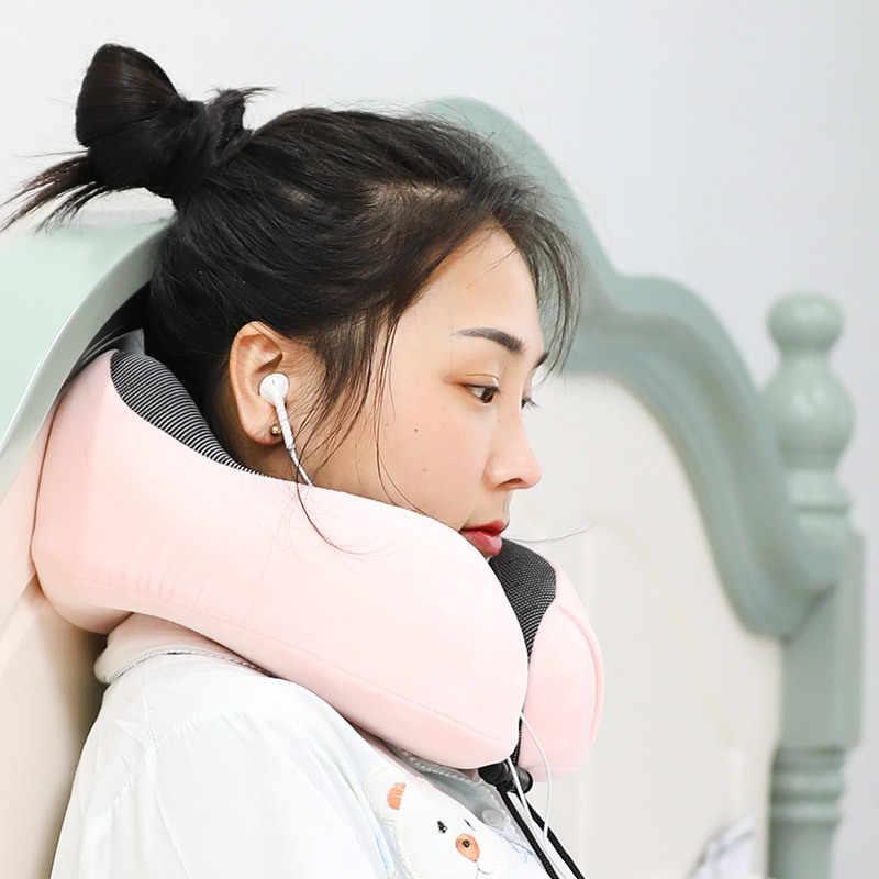 旅行枕低反発ネック & 頚椎枕飛行機車オフィス昼寝枕 U 字型飛行ヘッドチンサポートクッション