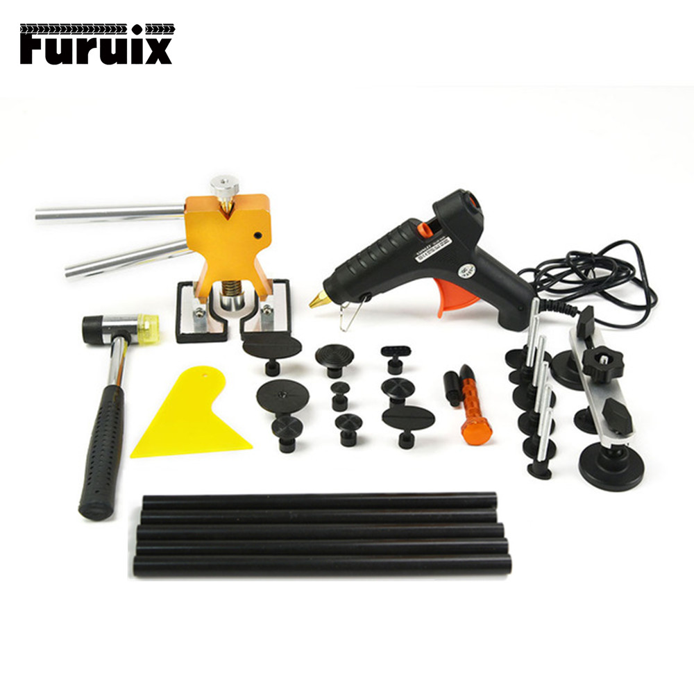 PDR Tools Dent Removal Paintless Car Body Repair Kit Dent Repair Tools  Glue Gun Suction Cup For Car Dents visbella leather repair glue kit vinyl color paste for car seat fur clothing leather boots rips fix crack cuts restoration tools