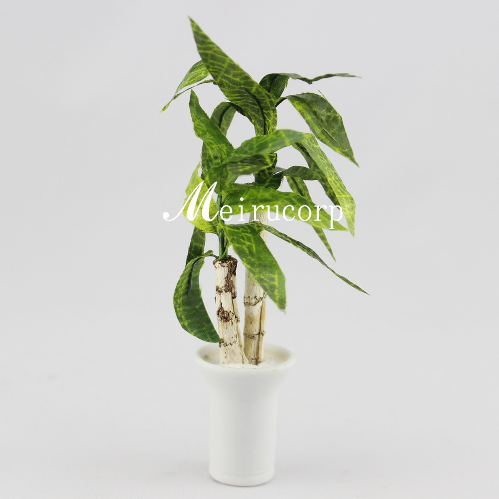 Wholesale Fine Dollhouses 1:12 Scale Mini Flower Green Potted Plant