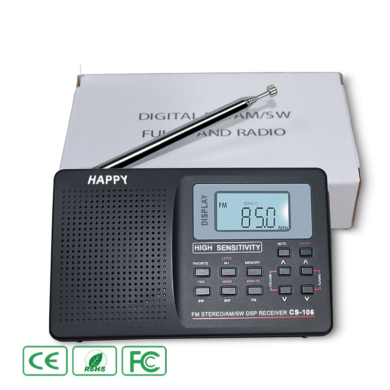 Portable FM Radio Full Band Digital MW SW LW External Antenna Receiver Music Player LCD Display Kit No Bluetooth Module Player tivdio v 116 fm mw sw dsp shortwave transistor radio receiver multiband mp3 player sleep timer alarm clock f9206a