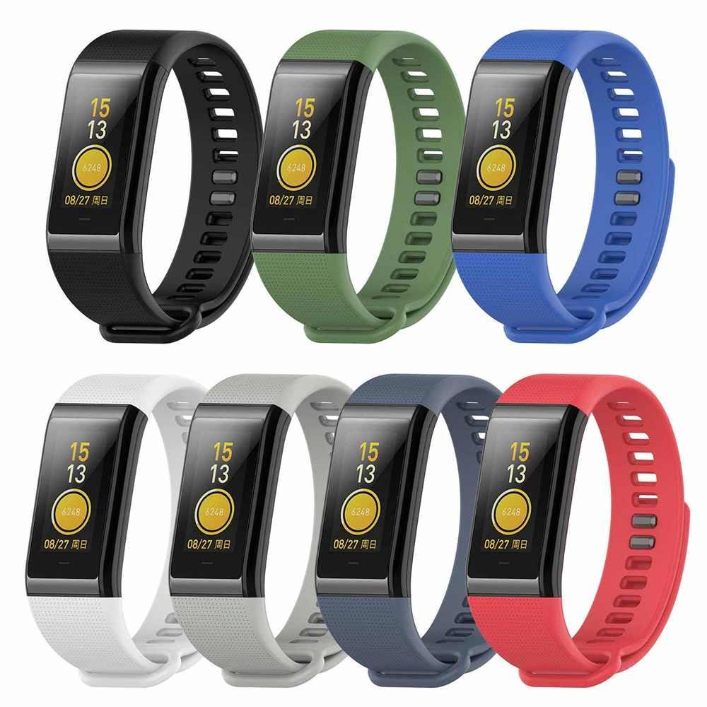 Correa de silicona colorida para relojes Huami Amazfit Cor, repuesto de cómoda pulsera para relojes Huami Amazfit Cor