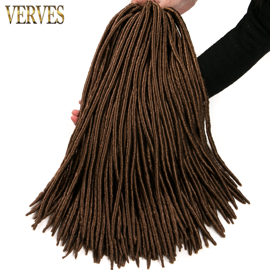 10 упак. искусственная locs крючком волосы 12strands/pack 18 крючком косу волосы verves  ...