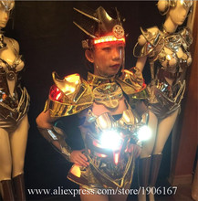 Fashion LED light costumes luminous light bra sexy car model wears clothes dj disco women party dress dancer stage show skirts