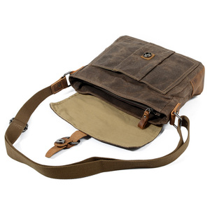 Image 3 - ABDB Crossbody MenS Shoulder Bag Waterproof Canvas Bag MenS Casual Messenger Bag