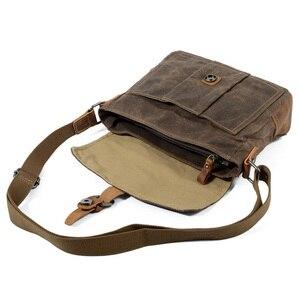 Image 3 - ABDB Crossbody erkek omuzdan askili çanta su geçirmez kanvas çanta erkek rahat askılı çanta
