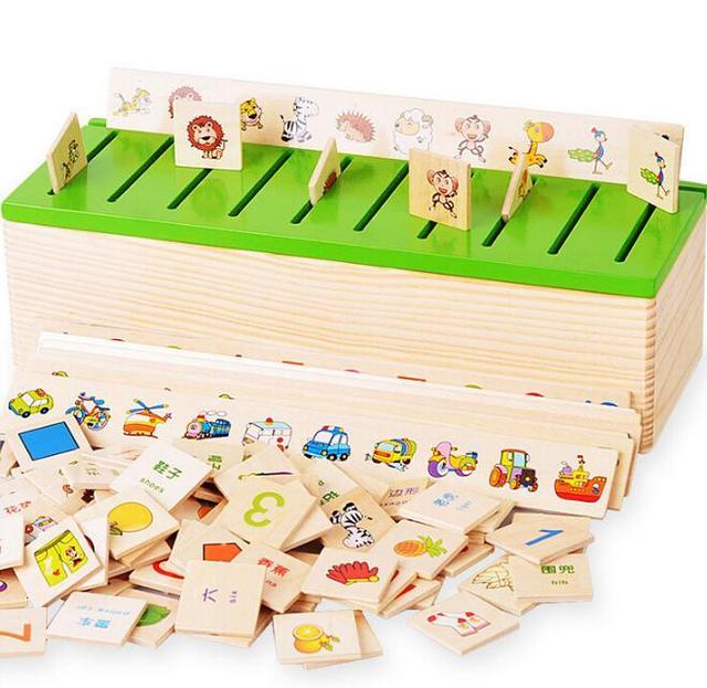Монтессори раннего игрушки развивающие деревянные существо 3d головоломки для детей разведывательных головоломки Brinquedos