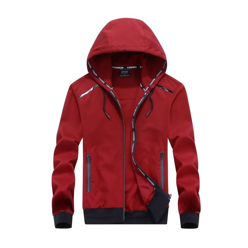 Big size men plus size of men's hooded cardigan cotton zipper tide oversize students coat big yards jacket men 9XL 8XL