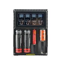 Оригинальный yakee Батарея Зарядное устройство Smart ЖК-дисплей Дисплей для iFePO4 NiMH AA AAA NiCd Li-Ion 18650 17670 18350 16340 14500 VS Nitecore D4