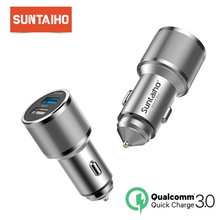 Suntaiho 30W Quick Charge 3.0 Car Charger For Samsung Xiaomi HTC 2.0 Quick Universal USB Fast Car Charger For IPhone X 8 7 Plus