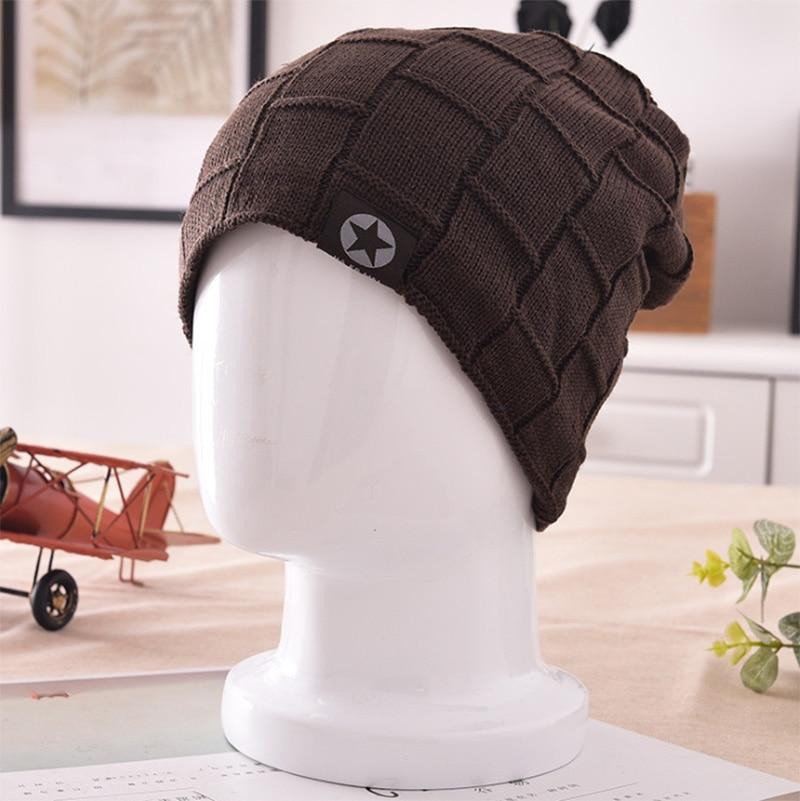 XINCAI Hot Sell ! New style autumn/winter outdoor warm Protect ear knitted wool add velvet men deep coffee   skullies     beanies   hat