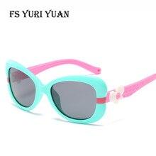 53f4d77ea9 FS YURI YUAN Kids Polarized Sunglasses TR90 Cute Cartoon Frame Men and  Women Sunglasses 3-10 Years Old Children s Glasses 3446