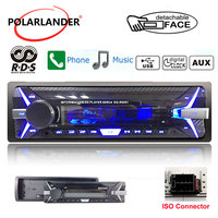1 Din Touch Tone Stereo FM AUX/TF/USB Audio Car Radio Remote Control BT Hands free Call 12V 4 * 60W MP3 Player