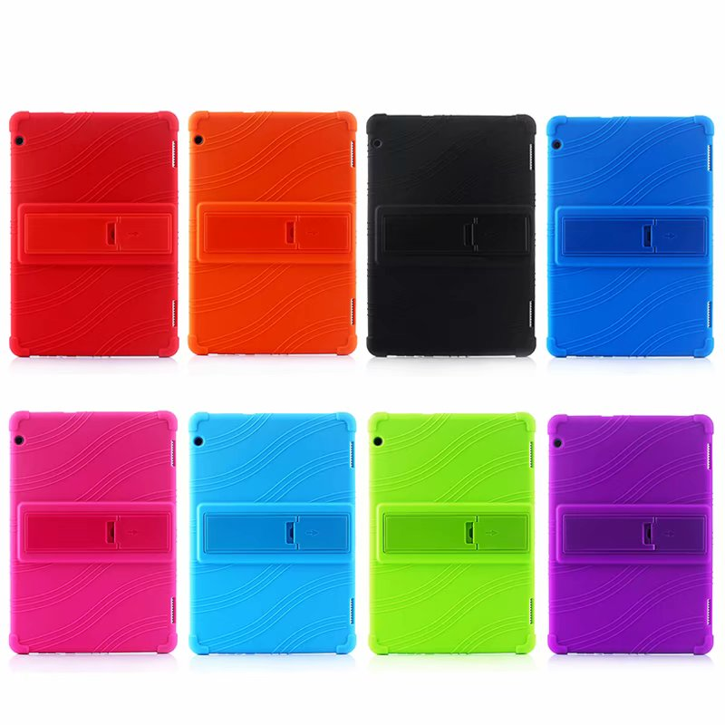Top Quality Silicone Safe <font><b>Case</b></font> for Huawei MediaPad T5 10 AGS2-W09/L09/L03/W19 <font><b>10.1</b></font> inch <font><b>Tablet</b></font> Funda Capa Cover for <font><b>Kids</b></font>+Pen image