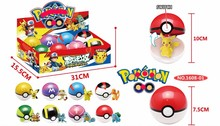 Free shipping 8pcs lot pokeball Toys 8Pcs 7 5cm Pokeball 8pcs Anime Action Figures