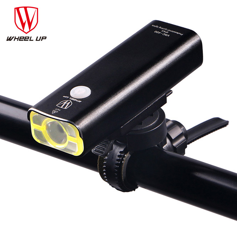 все цены на WHEEL UP Usb Rechargeable Bike Light Front Handlebar Cycling Led Light Battery Flashlight Torch Headlight Bicycle Accessories