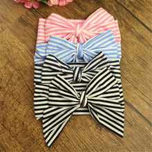 12pcs/lot Cotton Fabric Big Bow Headbands Classic Striped Large Bow Hair Bands Girls Hair Accessories High Quality Headwear