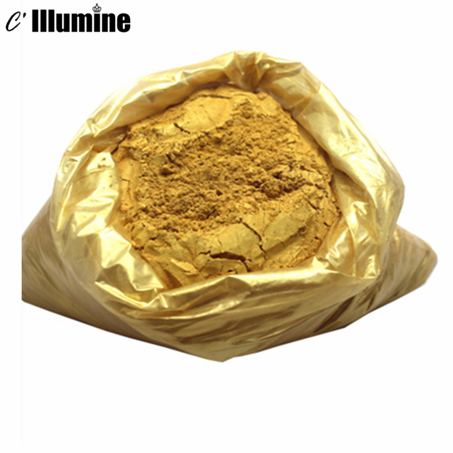 100g 1200 Mesh Gold Powder  Pigment ink printing High Temperature Acid Alkali Resistance Easy to Disperse  Non-toxic