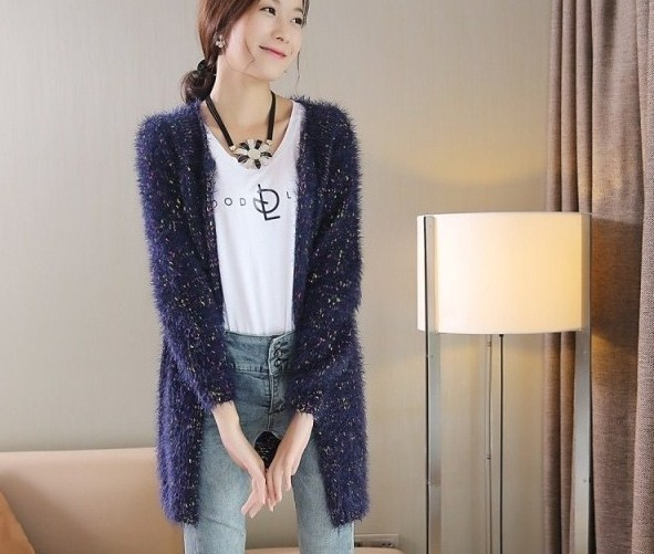 2015 Fashion New Women Cardigan mohair vintage long woman cardigan ...