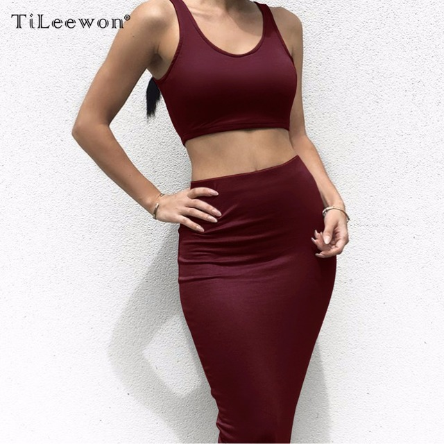 a86435f0512 2019 Women Dresss Summer Fashion Vestidos Bodysuit Sexy Bodycon Nightclub  Party Dress Two Piece Set Tracksuit Crop Top Skirts