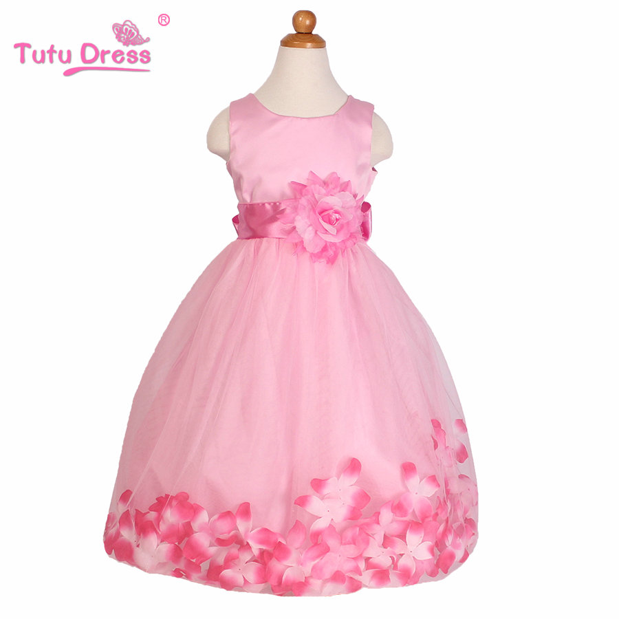 Summer New Girls Dress Sleeveless Girls Tutu Flowers Belt Dresses Party Wedding Dress Kids Clothes cute girls fashion dress summer kid girls sleeveless belt flowers tutu princess party dresses ball gown kids dresses
