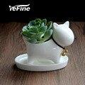 YeFine индивидуальность креативный керамический горшок для цветов Настольный мультяшный горшок для растений культура отточить модное украше...