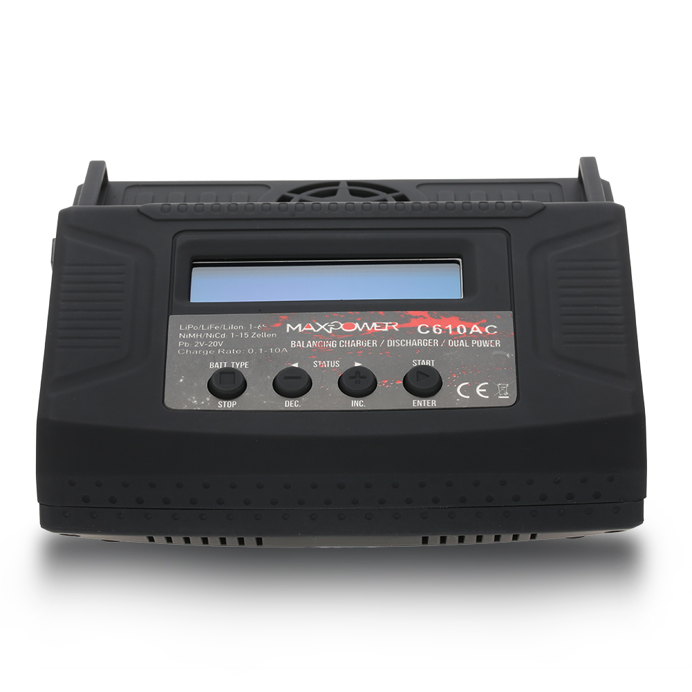 C610AC 10A 100W AC DC Dual Power Rapid Balance Charger Discharger for LiPo LiFe Lilo NiMH