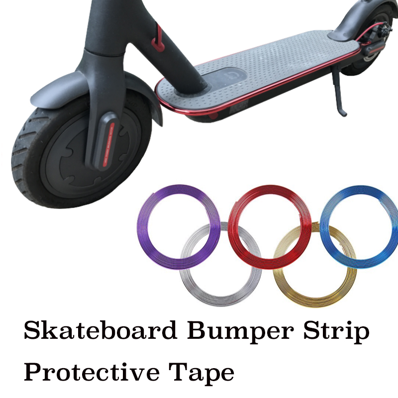 Skateboard Bumper Strip  8m for Xiaomi Mijia M365 Electric Skateboard Car Scooter Parts Decorative Strips