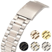 Stainless Steel Strap Factory Direct Sales Men and Women Watch Snap 304 Solid Metal Belt Wholesale