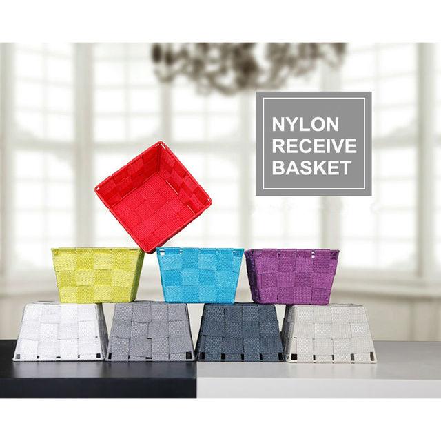 Nylon Receive Basket Small Size Woven Storage Living Room Snack Baskets Fruit Desktop