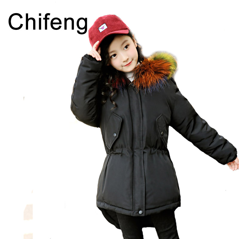 girls warm real down jackets kids warm winter coats fashion girl outerwear children's clothes 2017 2017 fashion boy winter down jackets children coats warm baby cotton parkas kids outerwears for