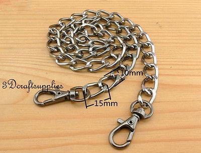 Bag chain purse chain for bag metal handle bag chain purse chain for bag strap chain gunmetal 56 cm K78 ...