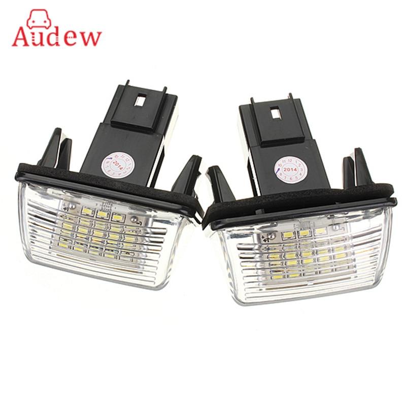 2Pcs 12V 18 LED License Number Plate Light Bulbs Lamp For Peugeut 206 207 306 CITROEN C3 C4 5 XSARA Free Error