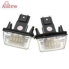 2 шт. 12 В 18 LED номерной знак лампочки лампы для peugeut 206 207 306 Citroen C3 C4 5 Xsara Бесплатная ошибка