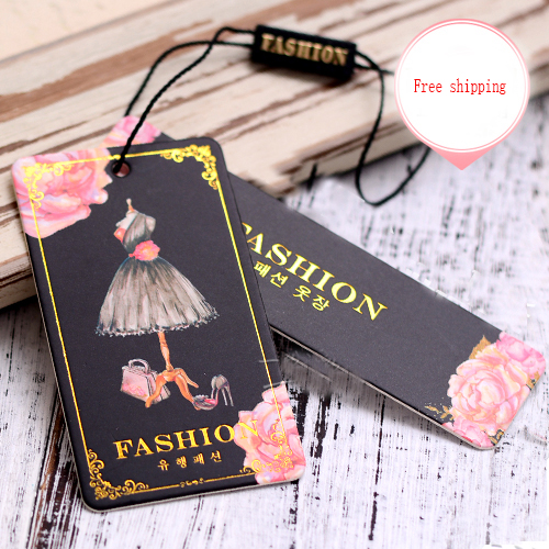 High-grade Thick Clothing General Spot Price Tag Trademark Clothes Hanger Standard Custom-made Custom Printed Cloth