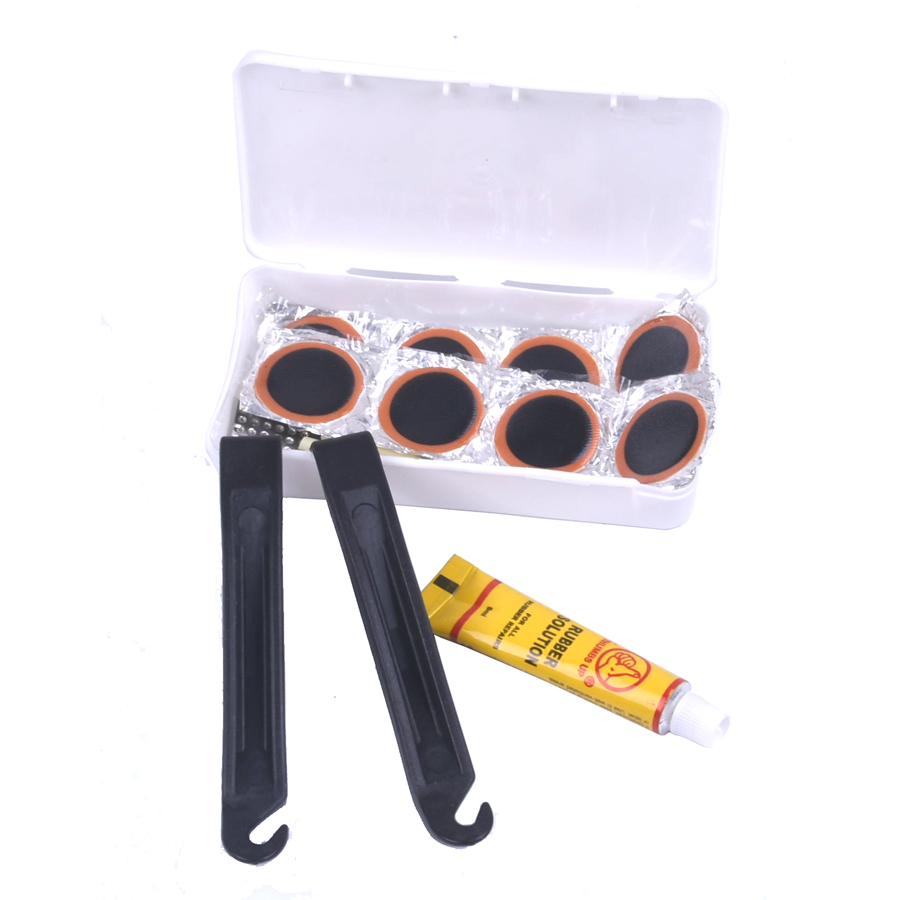 Bicycle Tire Repair Tools Kits Cycling Tyre Puncture Repair Tire Flat Set Patch Rubber Portable Fetal Best Quality Easy To Carry