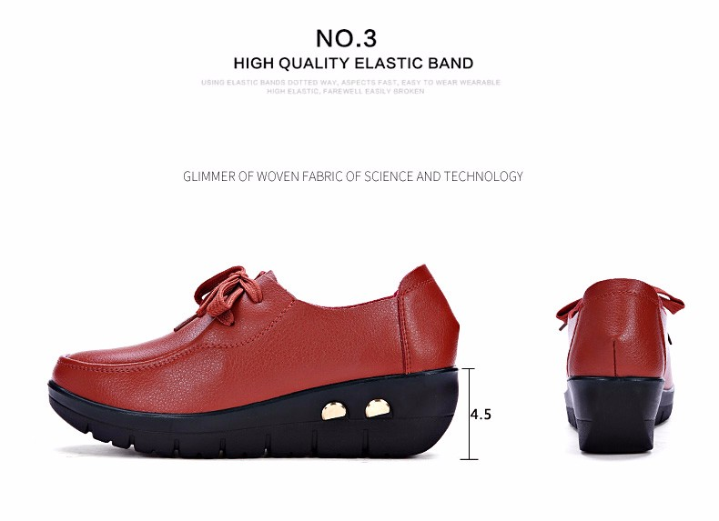 Women Oxfords Leather Shoes New Arrival Round Toe Lace Up Casual Women Flats Size 35-41 Flat Heels Platform Ladies Shoes NX27 (8)