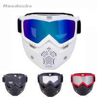 REEDOCKS nueva Máscara Modular gafas desmontables Filtro de boca gafas de esquí hombres mujeres a prueba de viento gafas de esquí snowboard pesca