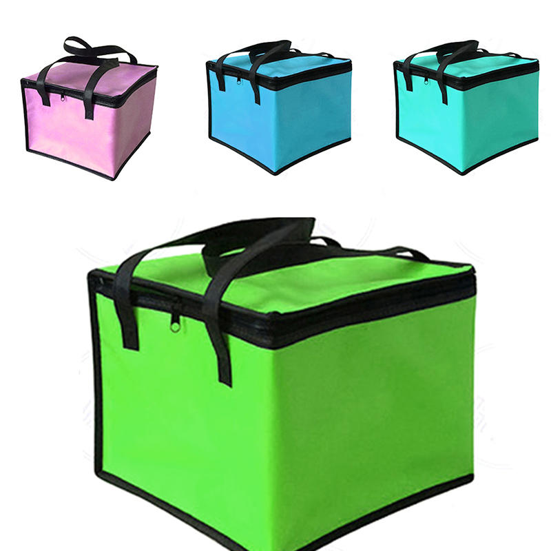 Insulated Thermal Cooler Bag Lunch Time Sandwich Drink Cool Storage Big Square Chilled Zip 4 Persons Tin Foil Food Bags Coffee