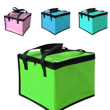 цена на Insulated Thermal Cooler Bag Lunch Time Sandwich Drink Cool Storage Big Square Chilled Zip 4 Persons Tin Foil Food Bags Coffee