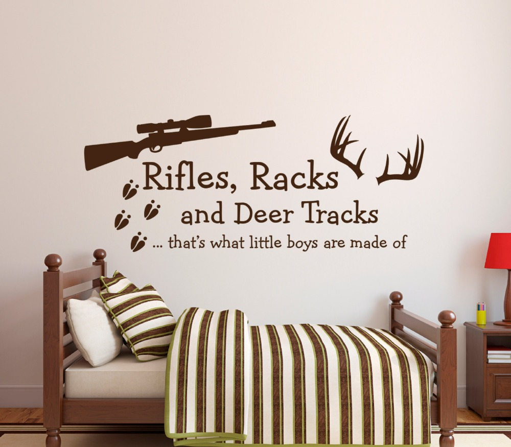 compare prices on boy quotes wall stickers online shopping buy rifles racks and deers english quotes nursery bedroom boys room art sweet decor vinyl wall sticker