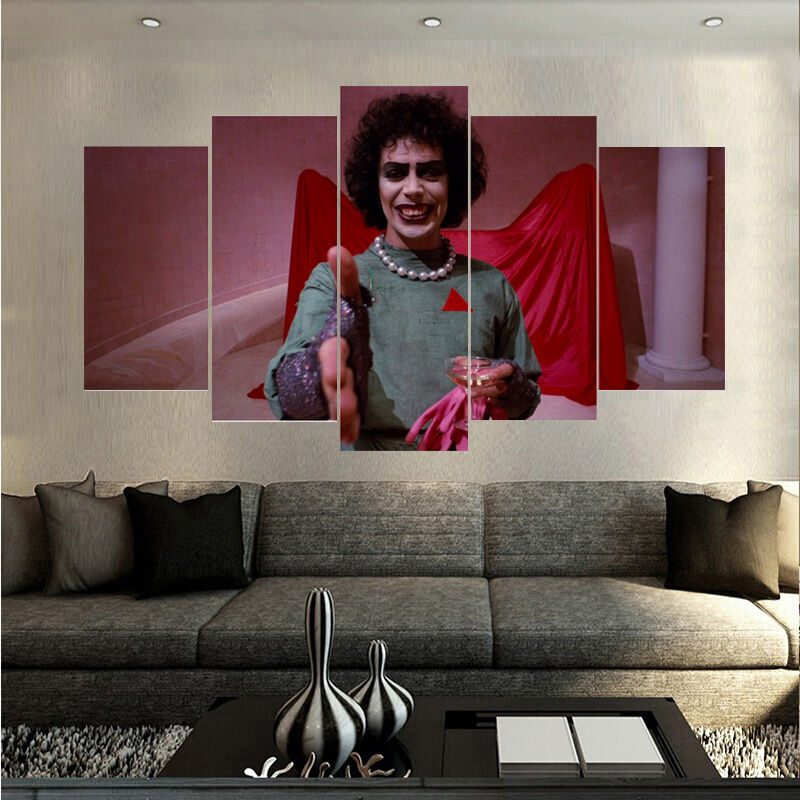 Factory Direct Sale 5 Pieces Figure HD Canvas Spray Printing Home Decoration Living Room Canvas Paintings Unframed Dropshipping