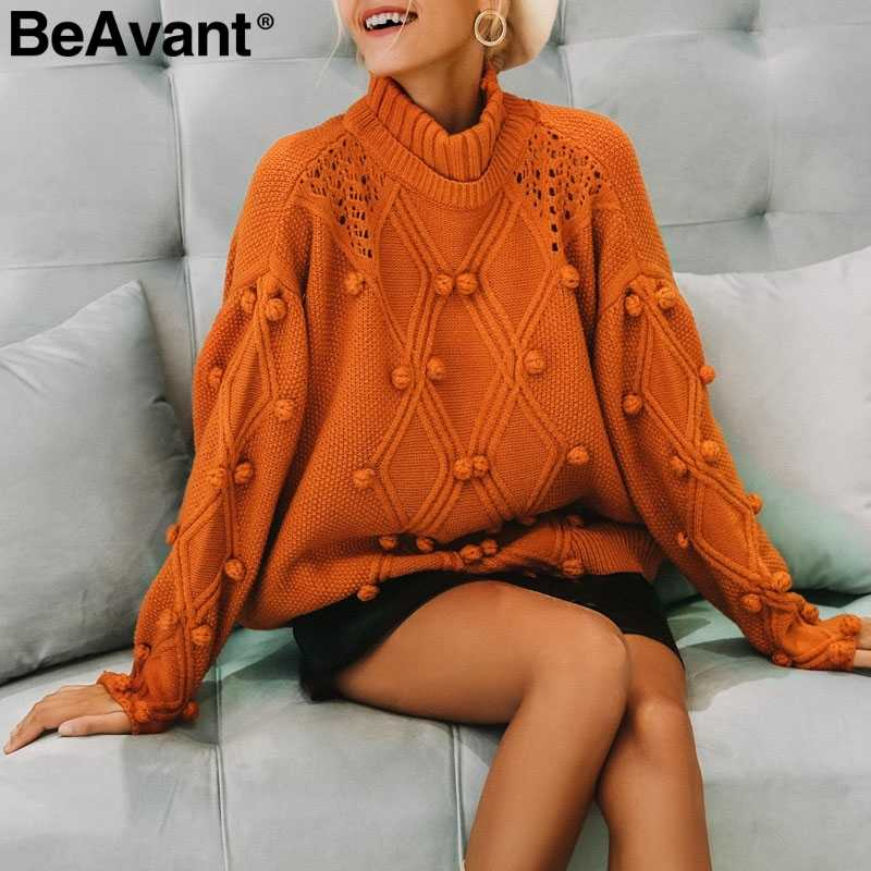 BeAvant Tricot batwing sleeve knitted sweater winter Twist white casual autumn jumpers 2018 O neck women sweater female pullover