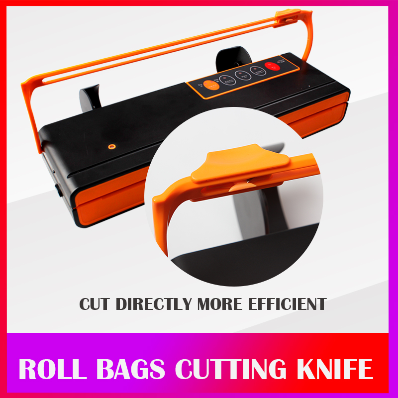 Image 4 - WOMSI Vacuum Packing Machine Mini Automatic Food Vacuum Sealer Own Cutting Knife Bag Slot Vacuum Packer Including 10Pcs Bags-in Vacuum Food Sealers from Home Appliances