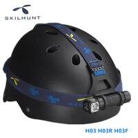 Skilhunt H03 H03R H03F 1200lm 18650 CR123A EDC LED Headlamp Flashlight Cree XML Waterproof Headlight
