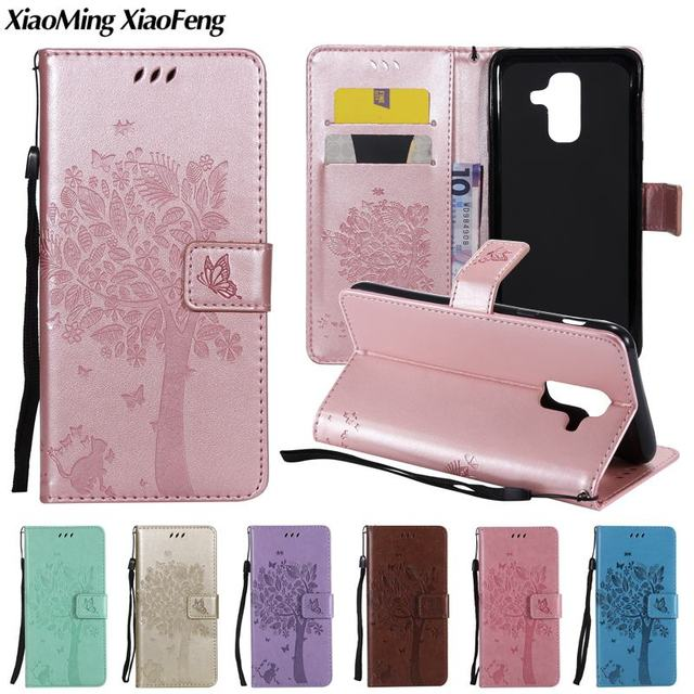 finest selection 4e3a2 131a3 US $3.98 20% OFF|Magnetic Leather Wallet Case For Samsung Galaxy A6 Plus  2018 Cover Case Samsung A6 Plus 2018 Phone Case with Card Holder Bags-in ...